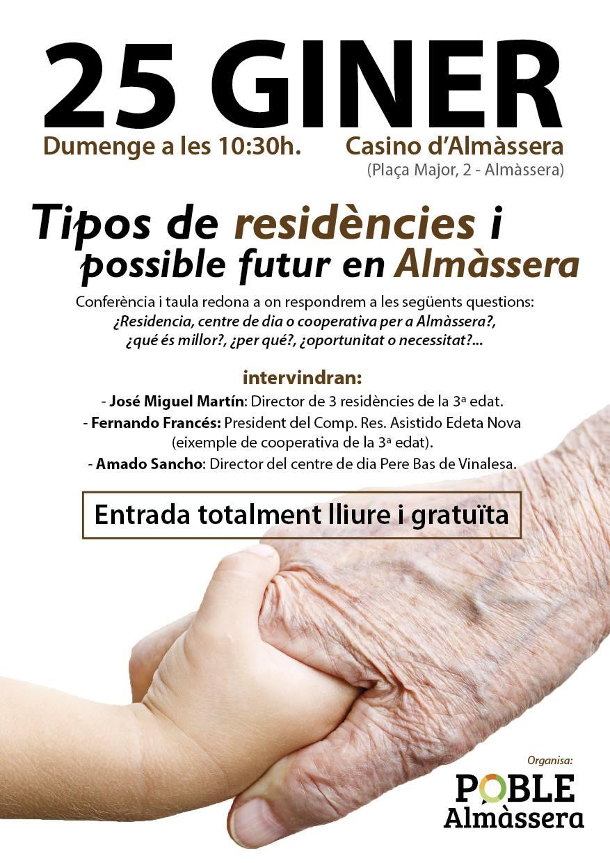POBLE celebrarà una conferència sobre els tipos de residències i el seu possible futur en Almàssera