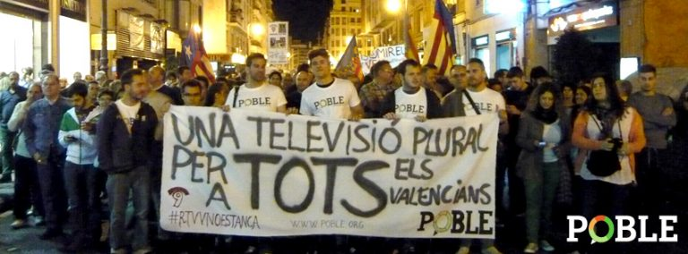 POBLE reclama una televisión para TODOS los valencianos.
