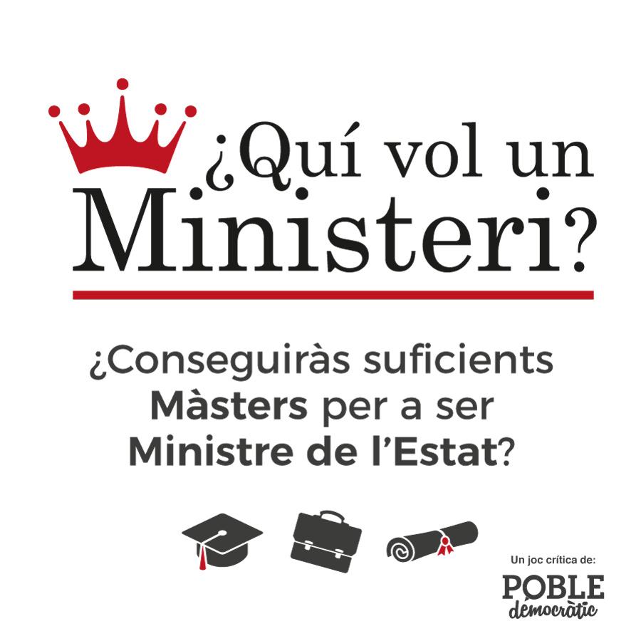 Un partido político crea un juego de mesa en el que te conviertes en ministro y compras másteres