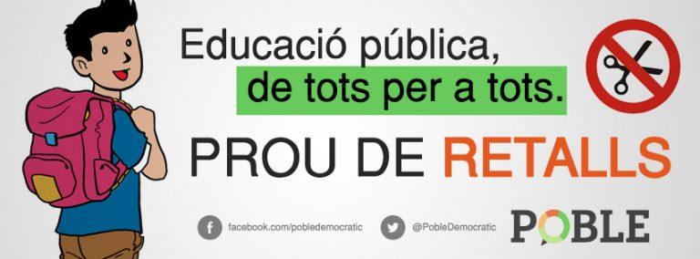 Basta de recortes en educación