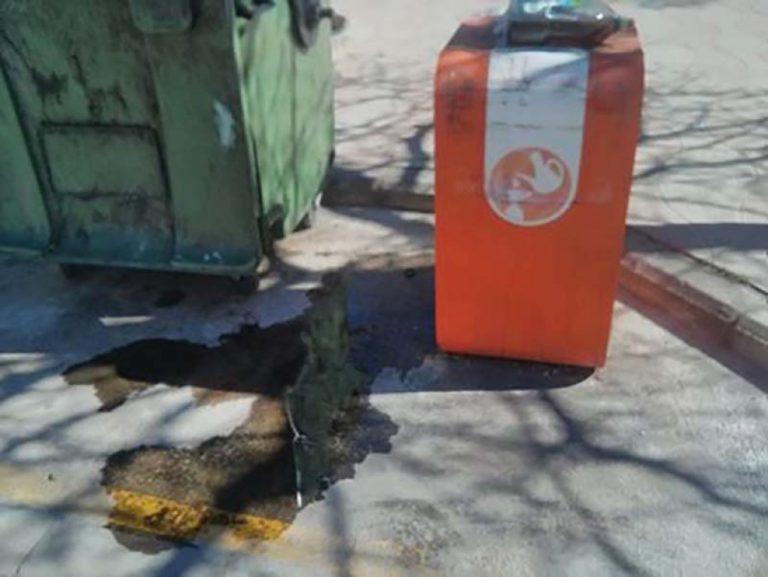 POBLE pide reponer los contenedores de aceite de Massanassa