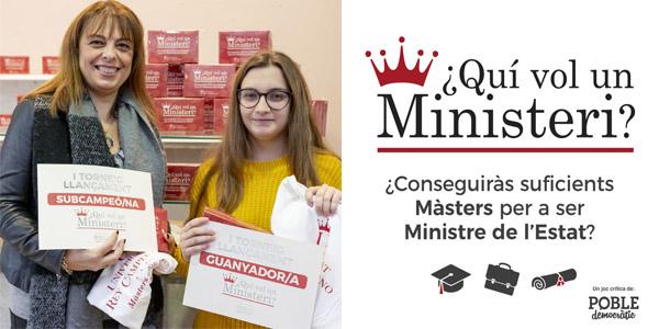 Imma Castellets és la primera guanyadora del torneig del joc ¿Quí vol un Ministeri?
