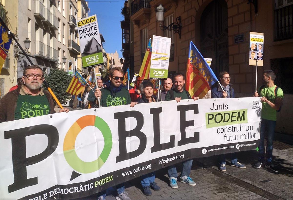 Poble Democràtic exige una mejor financiación para el pueblo valenciano