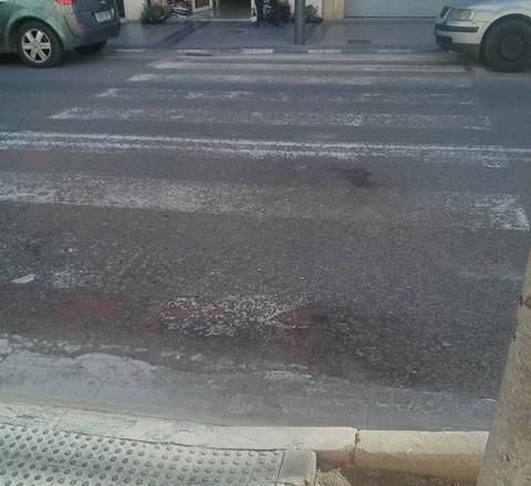 POBLE pide que se repinten los pasos de peatones de Blasco Ibáñez en Massanassa
